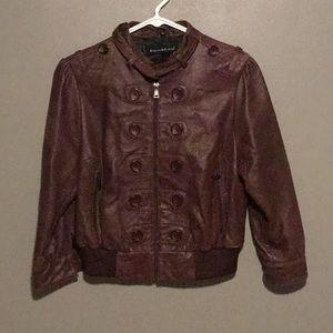 Genuine leather crop jacket! 💗